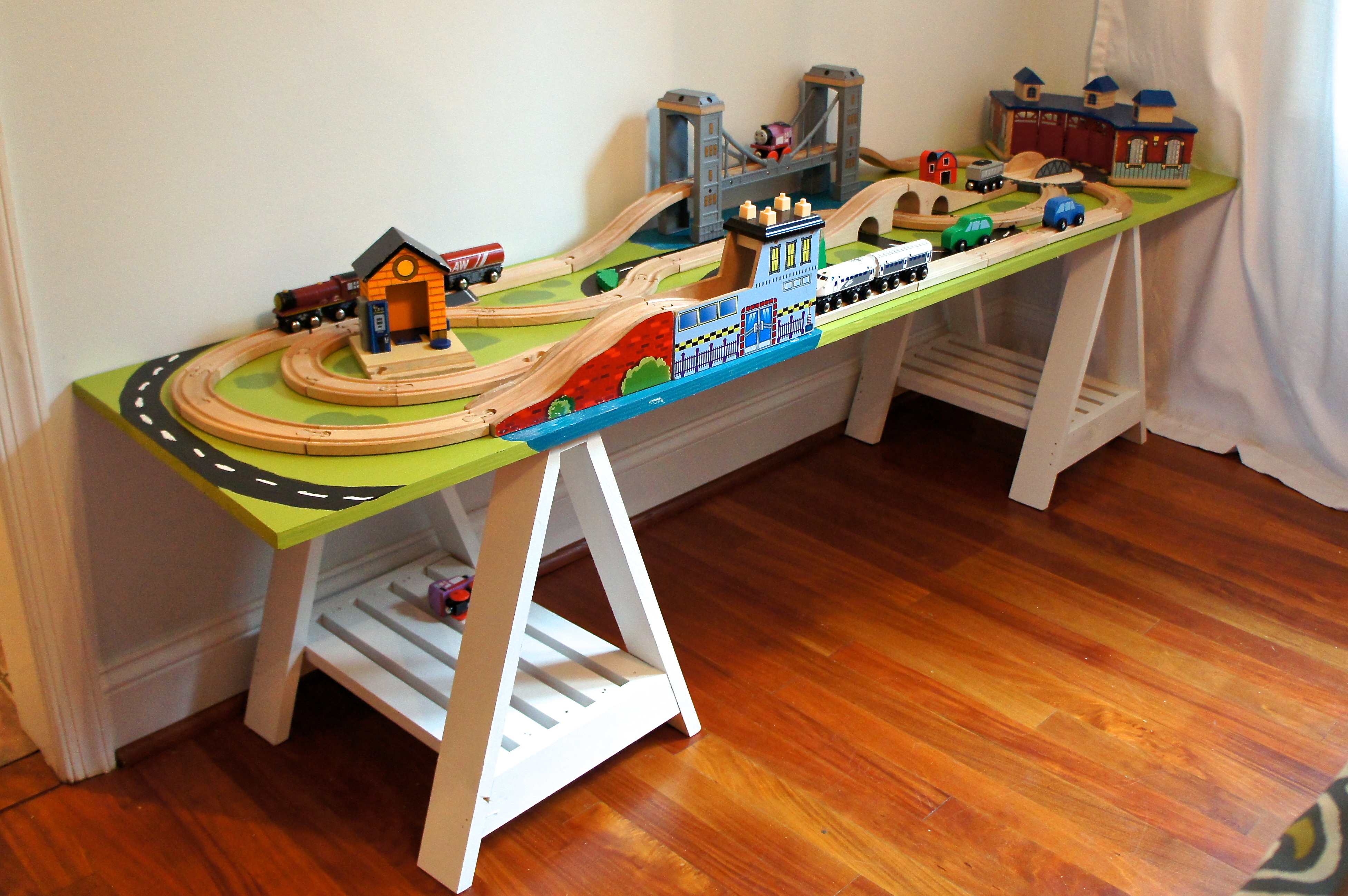 Ikea Childrens Table And Chairs Diy Train Table | Ocean Front Shack