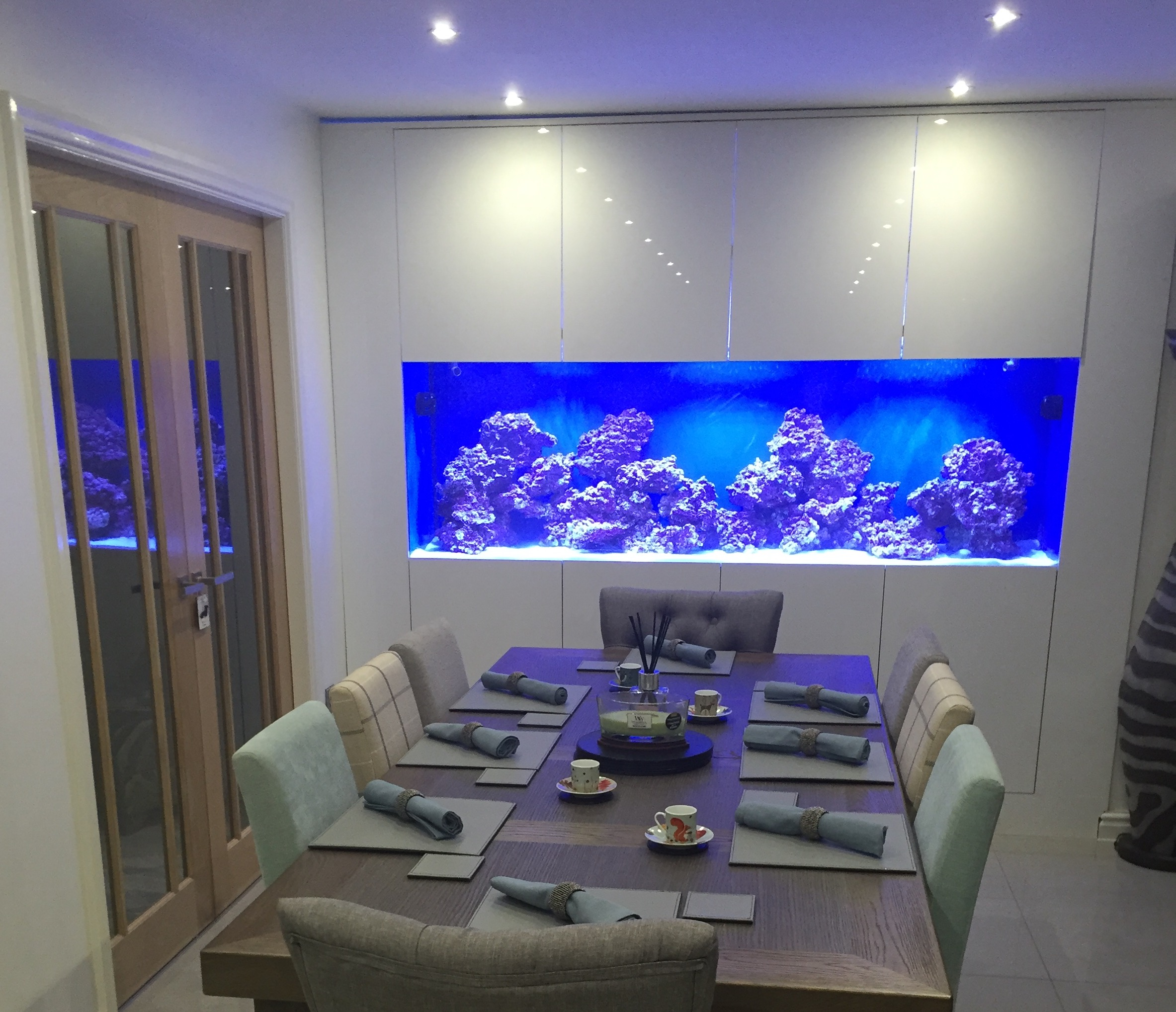 Esszimmer Set Custom In Wall Fish Tank - Oceanlife Aquatics
