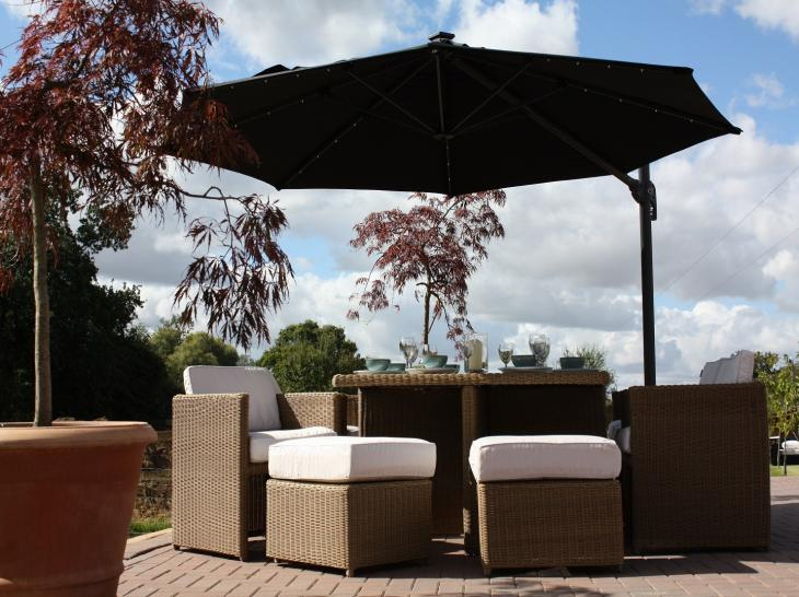 3 5m Round Pacific Garden Parasol Oceans Garden Furniture - Garden Furniture Clearance Parasols