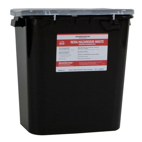 Rolling Cart Rcra Hazardous Pharmacy Waste Containers