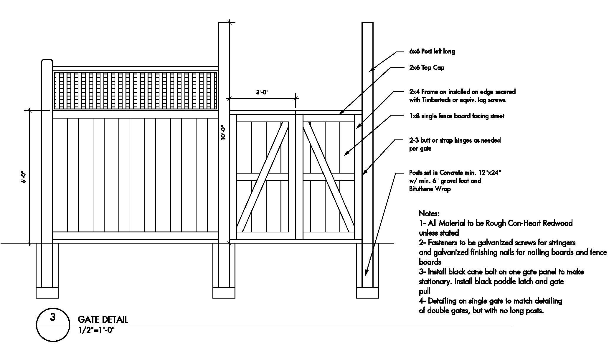 wood gate diagrams