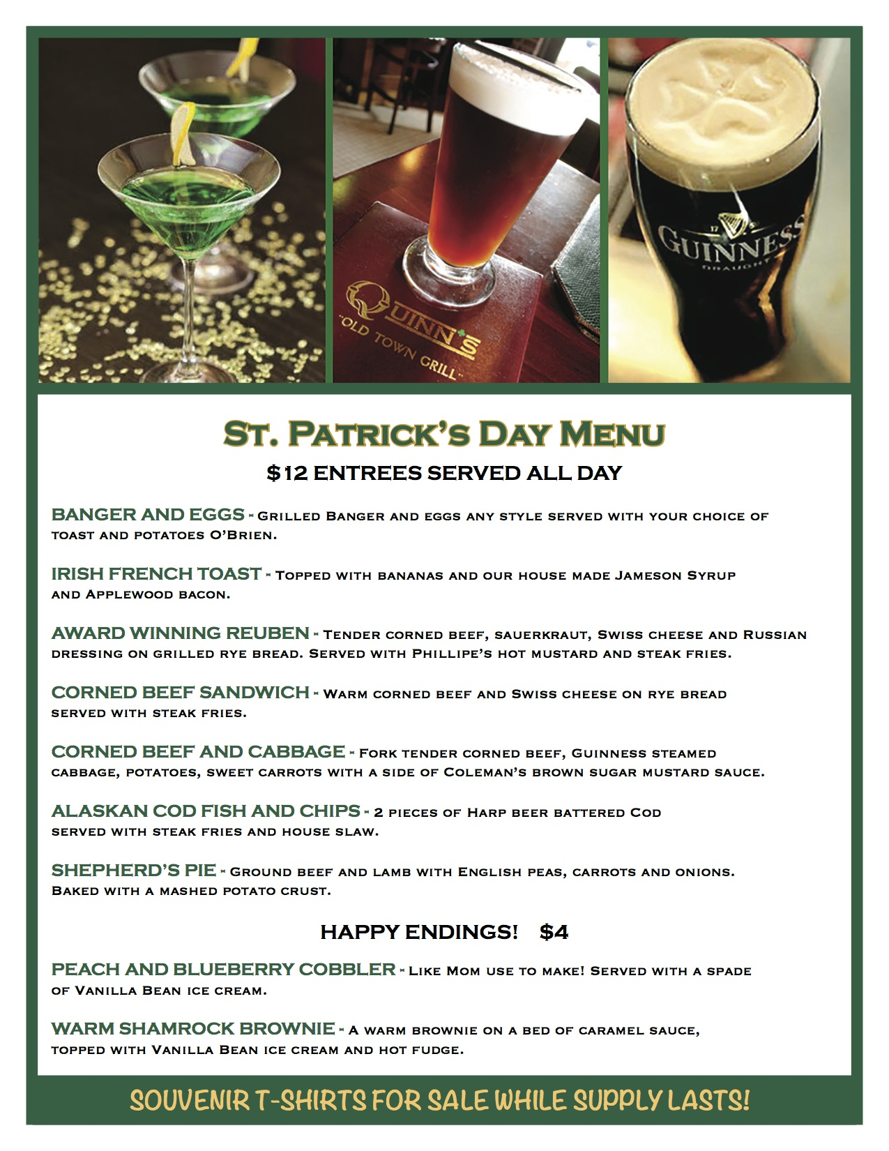 Camino Real Menu Nutritional Information Have A St Patrick S Day Date Night At Quinn S Oc Mom Dining