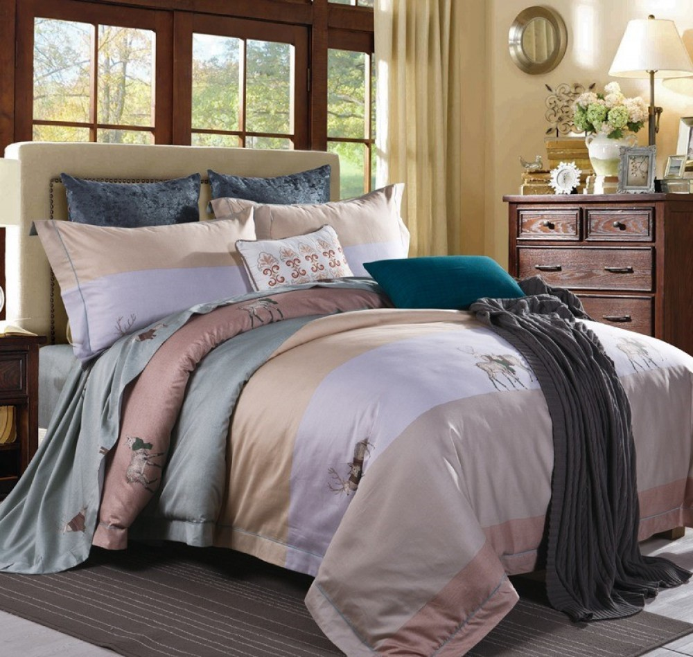 Bed Linen Stag And Family Bed Linen Set After Fashion