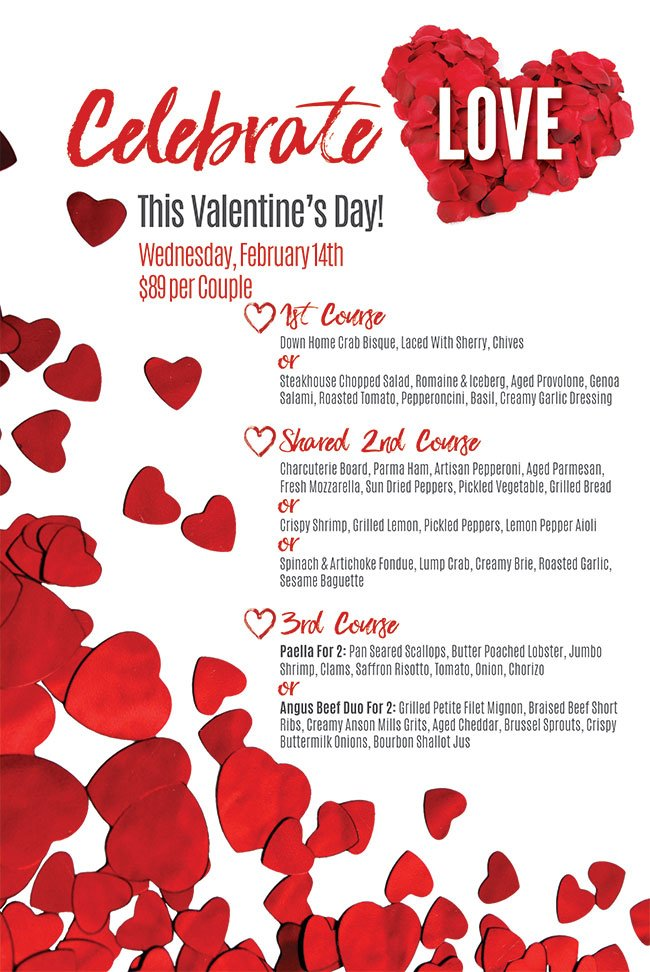 Valentine\u0027s Day Menu Dockside Bar and Grille West Ocean City - valentines day menu template