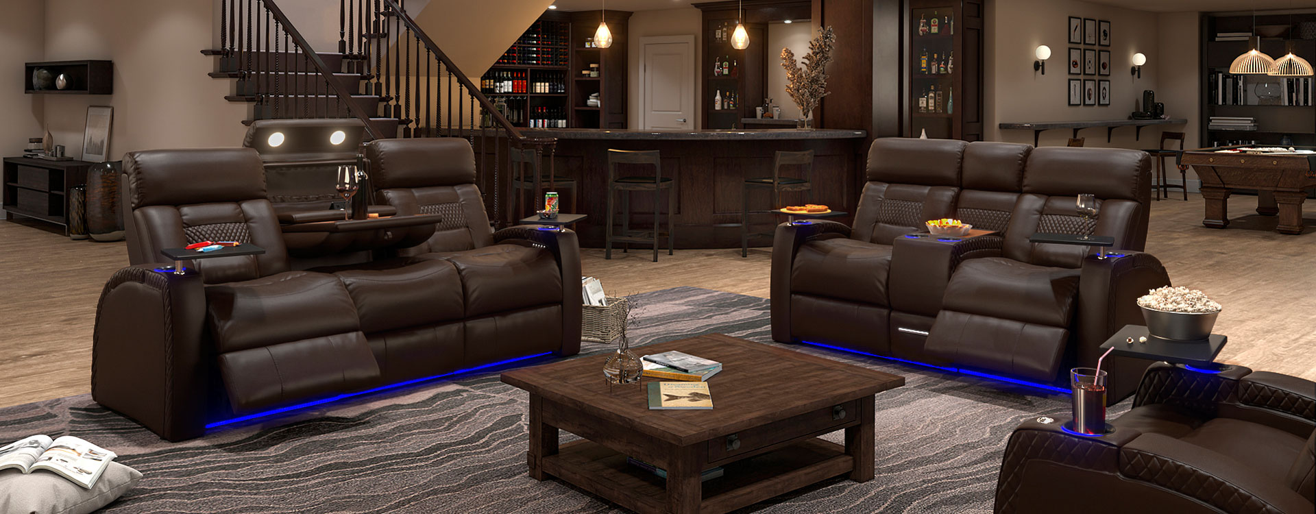 Home Theater Seating Sofa Loveseat Collections