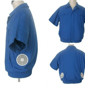 air conditioned jacket blue