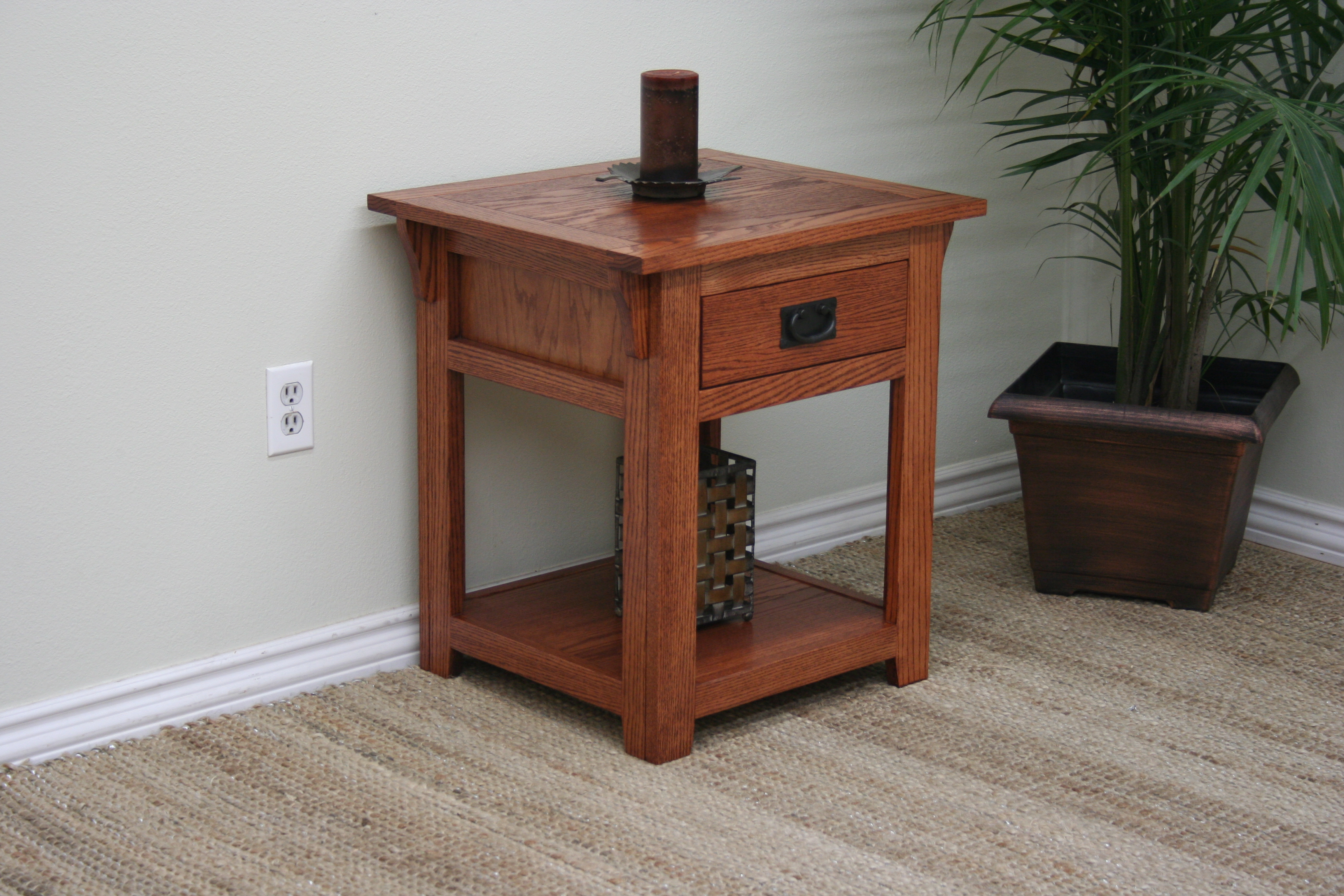 Building An End Table O M258 Mission Oak 1 Drawer End Table Odc Products