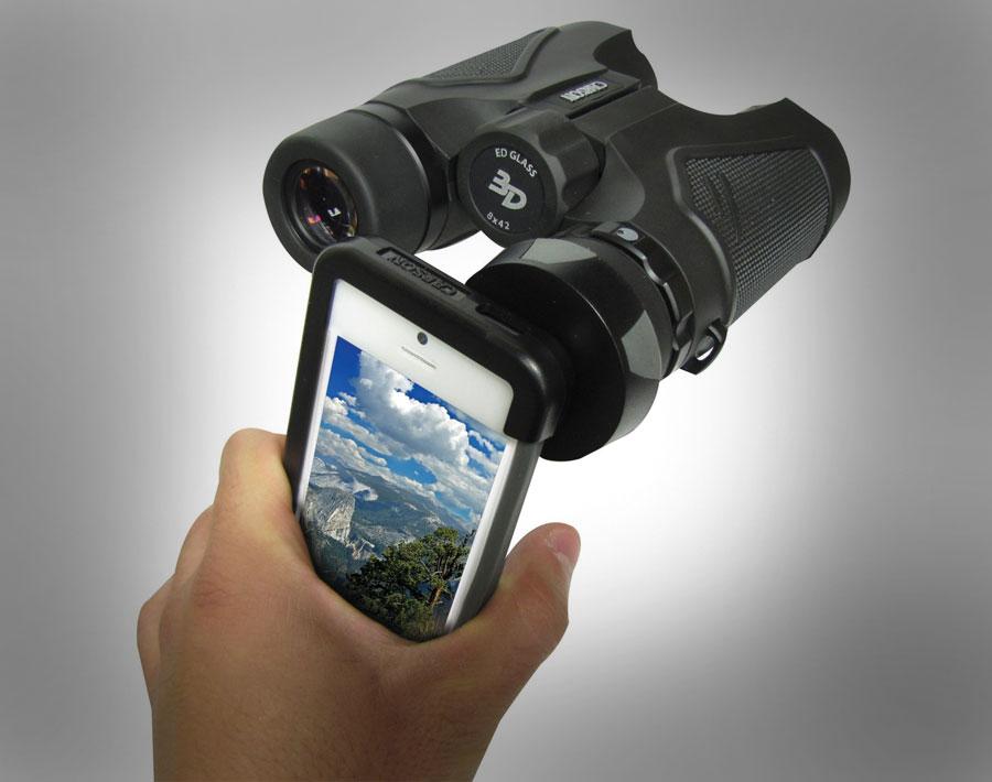iphone binoculars attachment mount