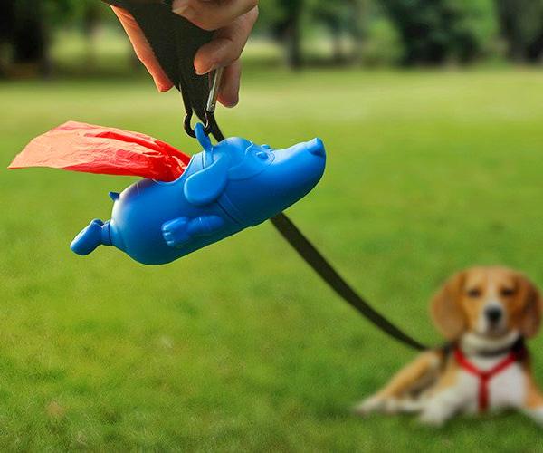 Mighty Dog Superman Dog Poop Bag Dispenser