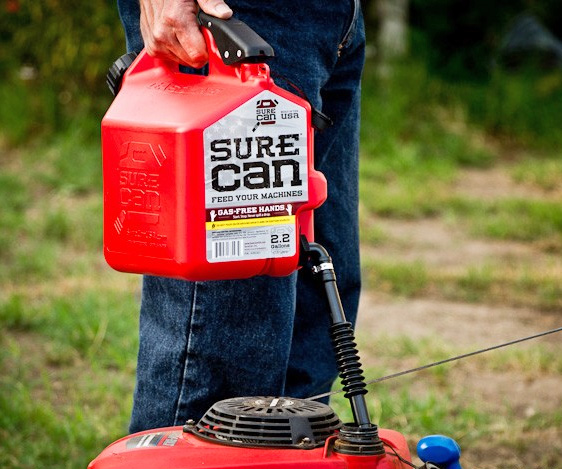 Garden Mower The Sure Can Is The Easiest Way To Fill Your Stuff Up With Gas