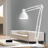Giant Floor Lamp Looks Like a Blown Up Desk Lamp