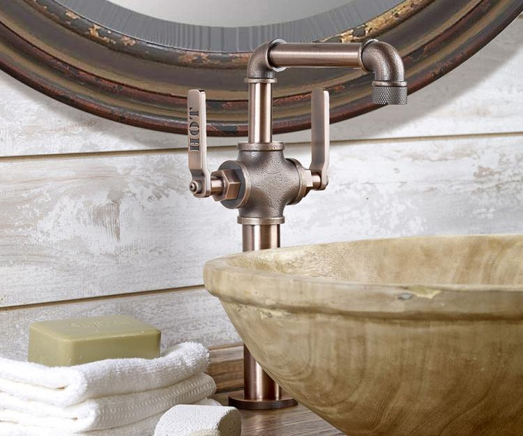 Where To Buy Old Kitchen Cabinets This Bathroom Faucet Looks Like An Old Industrial Pipe