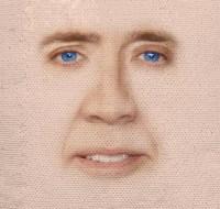Nicolas Cage Sequin Pillow Reveals Nicolas Cage's Face