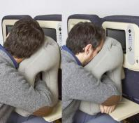 Woollip: An Inflatable Travel Pillow For Sleeping On Planes