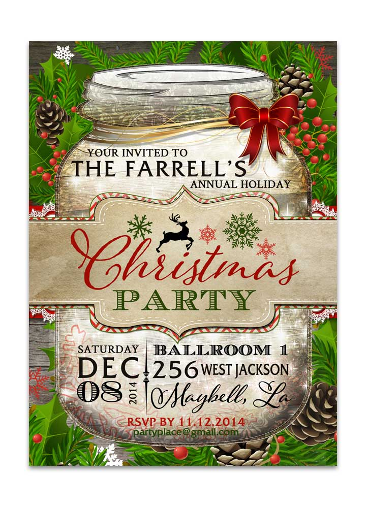 Save The Date Christmas Party Cards Chalkboard Christmas Party Invite