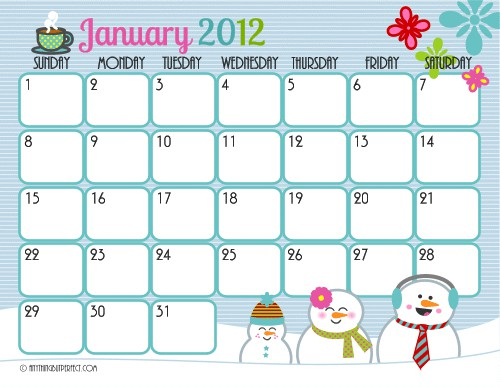 Print Off Monthly Calendar 2014 2017 Full Size Monthly Calendar Printables Are Here January 2nd Run It Up The Flagpole Day Cream Puff Day