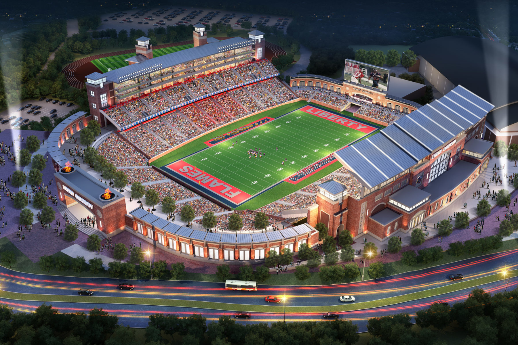 Design Bar Liberty University Williams Stadium Expansion - Odell