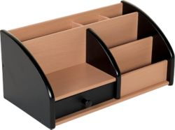Desk Organiser Stationery Osco Wooden Desk Organiser Black And Beech Stationary