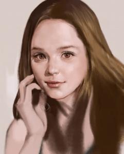 Portrait d'une femme en speed painting