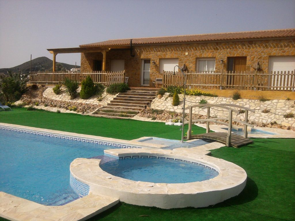 Jacuzzi Pool De Country House In The Sierra De Bédar With Swimming Pools And Jacuzzi Bédar