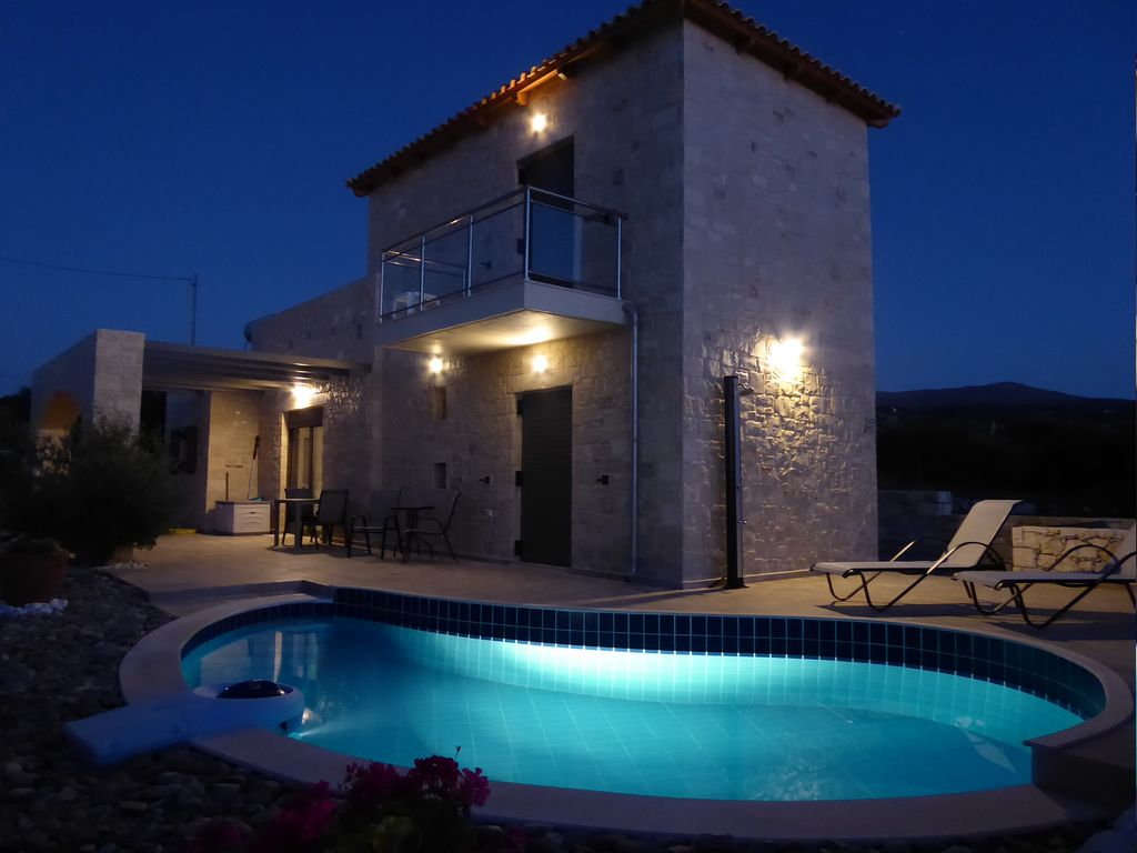 Ferienhaus Mit Pool Kreta Contemporary Stone Built Detached Villa With Private Pool Rethimno