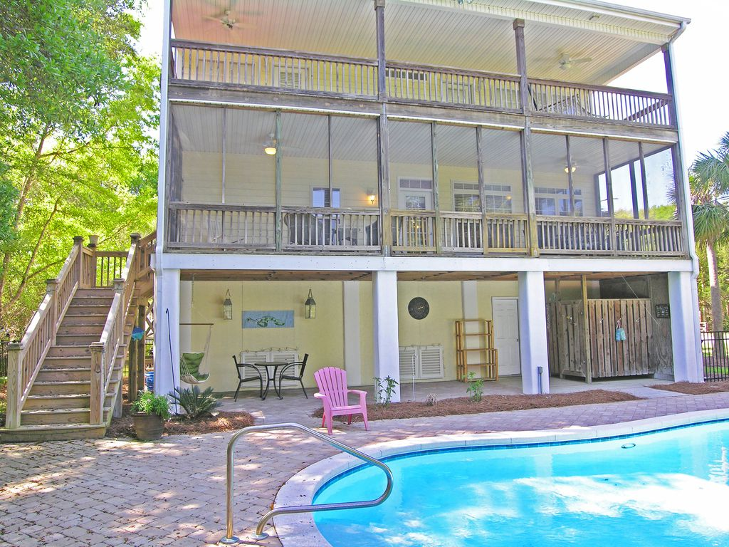 Beach House With Pool Dog Friendly 3 Larg Vrbo