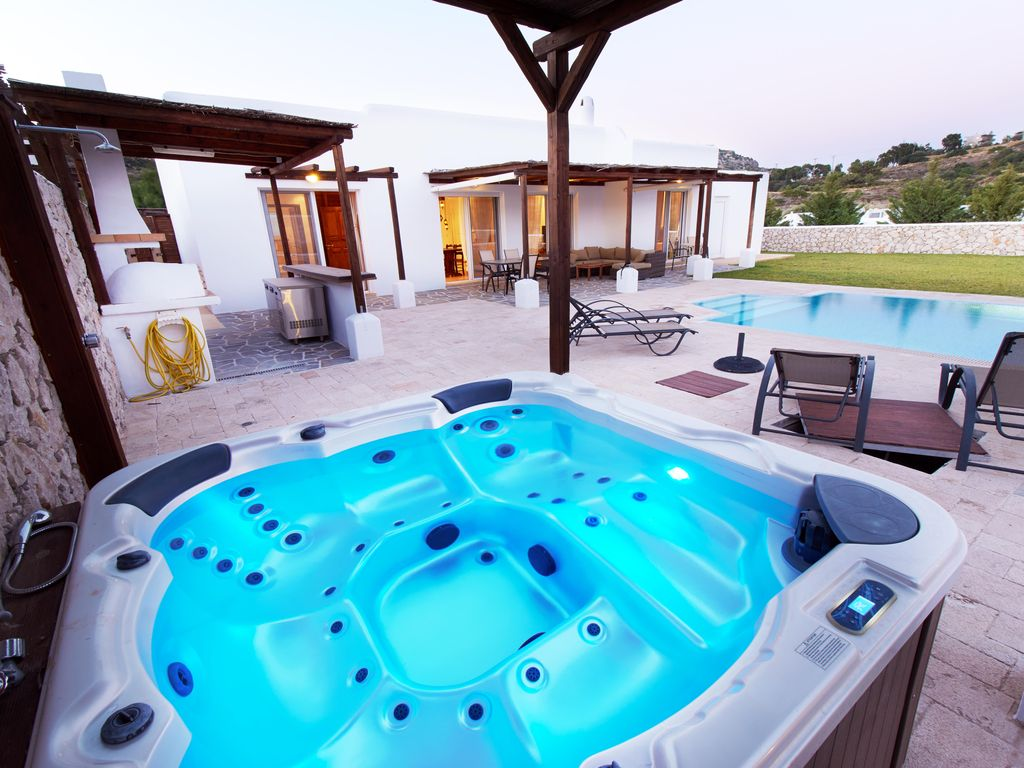 Jacuzzi In The Pool Private Pool Outdoor Jacuzzi In Anthony Quinn Ladiko Valley Faliraki
