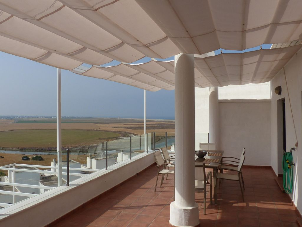 Wohnzimmerfenster Modern Penthouse La Perla Flooded With Light Modern Quiet Near The Beach Outskirts Conil Conil De La Frontera City Centre