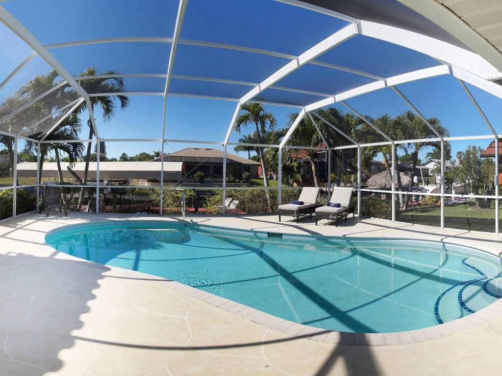 My Pool Pflege Villa Palaco Grande Newly Renovated Boat Optional Heated Pool Gulf Access Cape Coral