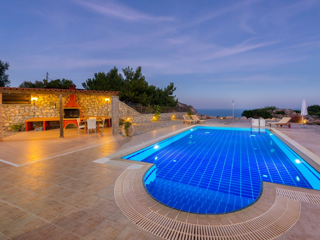 Villa Tsambika View Stunning Seaview Private Pool And Wi Fi - Rhodos Luxusvilla