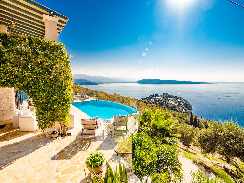 Ferienhaus Mit Pool Zakynthos Exquisite Family Villa With Spectacular Ocean Views And Heated Infinity Pool Kassopei
