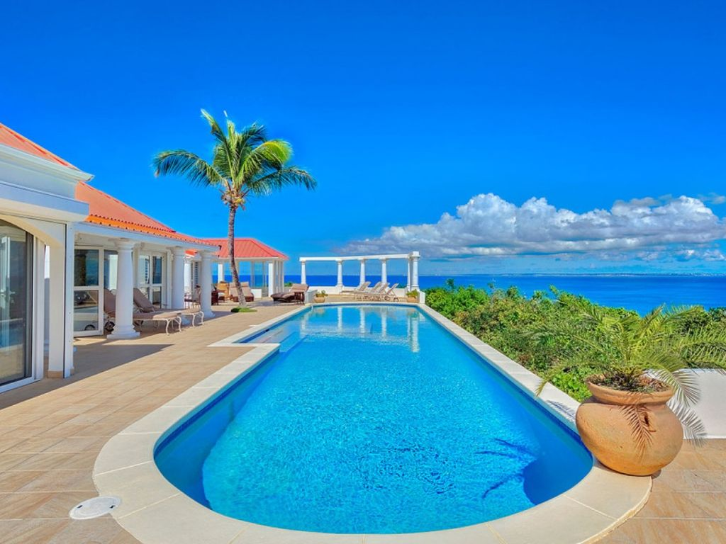 Pool Terrasse Terrasse De Mer Hillside Villa Breathtaking View Of Baie Rogue Beach Les Terres Basses