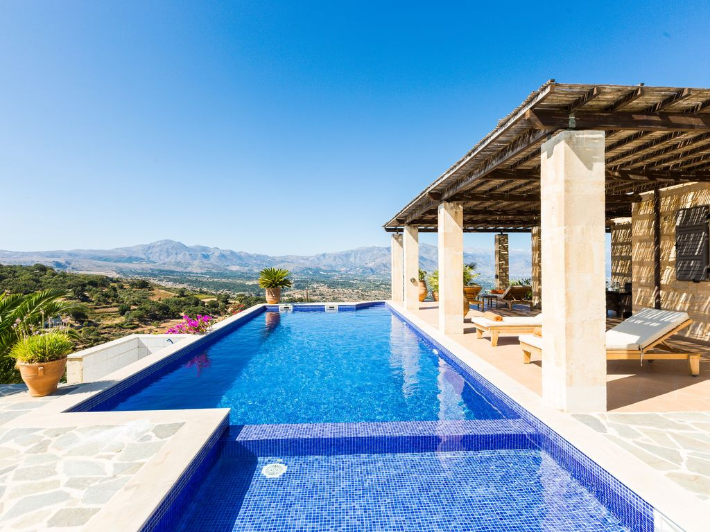 Hank Zwembad Villa Jacopo Superb Views 45m2 Private Pool Close To Shops And Restaurants Rethimno
