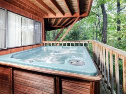 Gray Hot Tub Deck Bar Hot Tub Deck Diy Chalet Village Cabin Rental Hot Tub Private Hot Tub On Lower Deckwith Hot Tub Circular Chalet