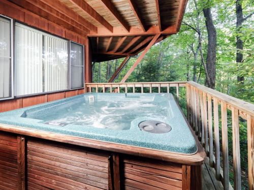 Medium Of Hot Tub Deck