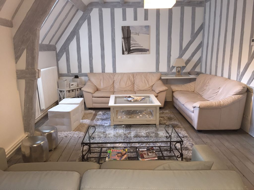 Center Star Bettdecken Apartment Classified 4 Stars Normandy Coast Of 116 M ² With 100 M Of The Seaside Vrbo