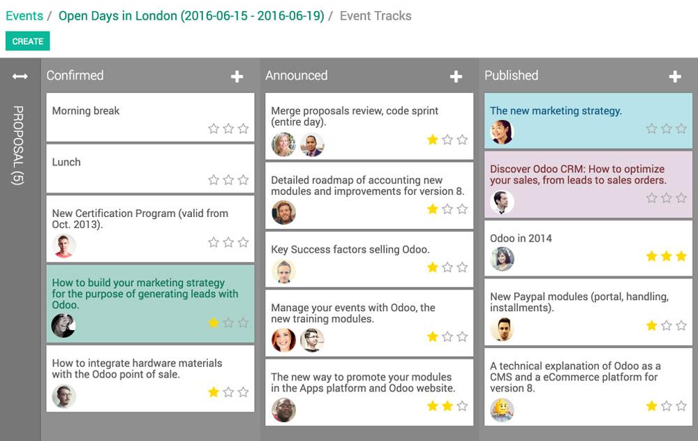 Odoo Software Open Source de Gestión de Eventos - como hacer boletos para un evento