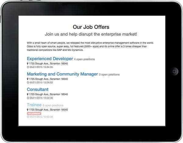 Odoo Open Source Recruitment Application