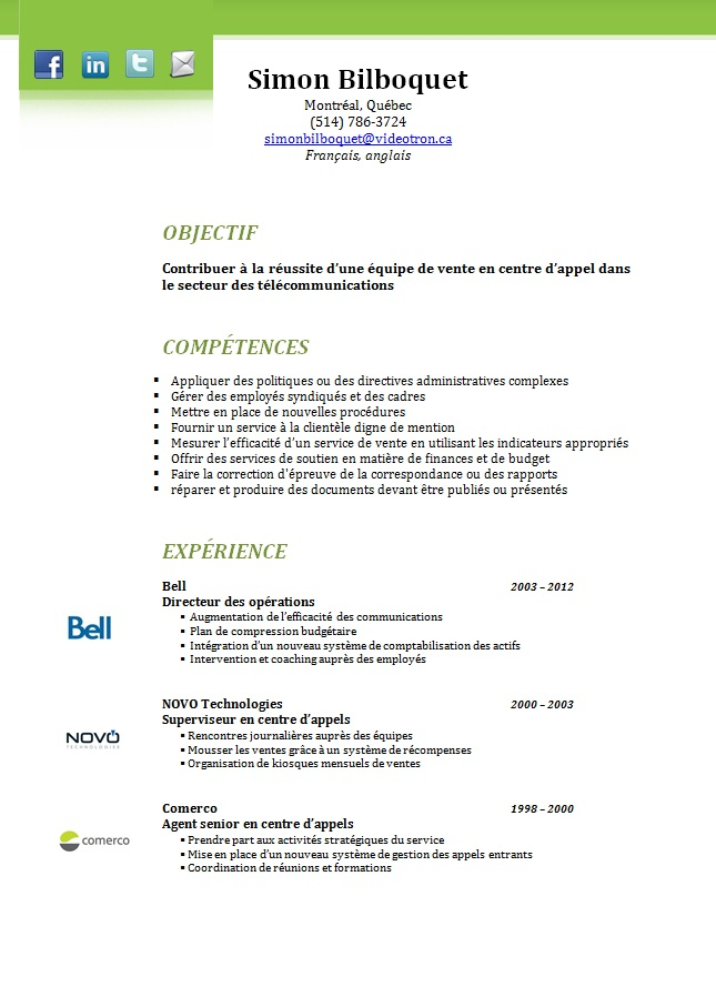 Make A Modeling Resume Cv Template Quebec Exemple De Curriculum Vitae Quebec