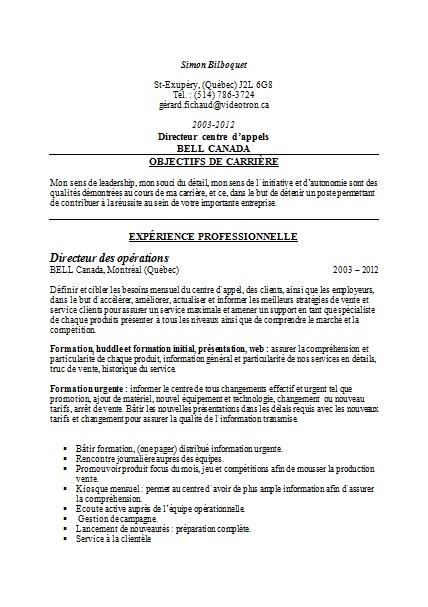 Sample Cv Quebec Immigration Government Of Canada Assignment Secondment By Najma Emploi Quebec Exemple De Cv Lettre De Motivation 2017