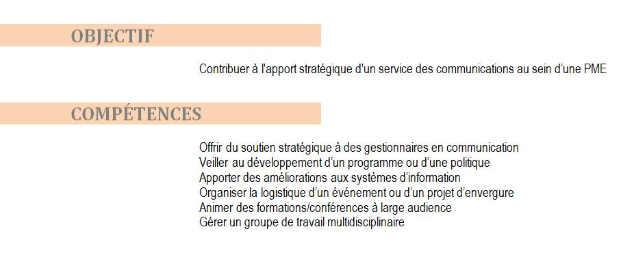 formuler competences cv