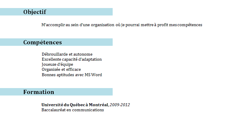 comment dire disponible de suite sur cv