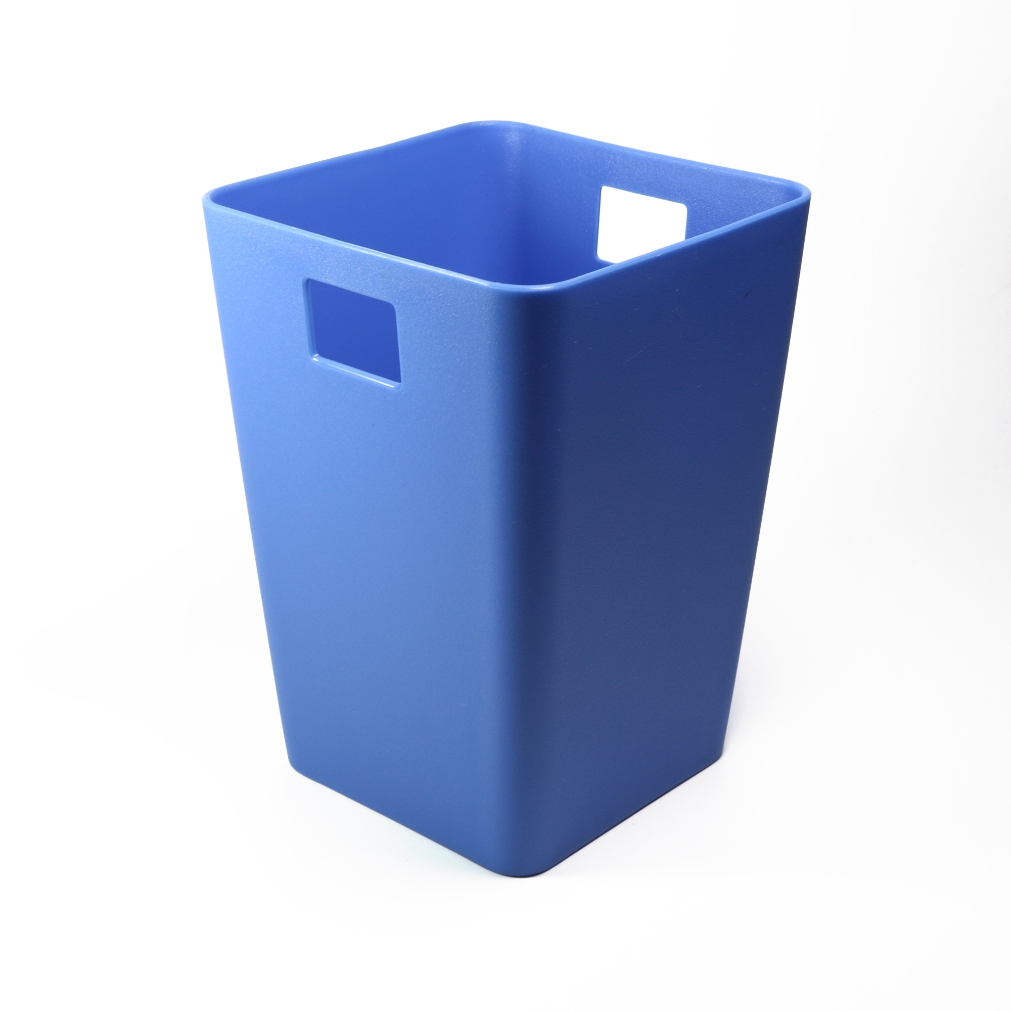Mini Plastic Trash Can With Lid Flow Blue Mini Waste Bin Desktop Garbage Basket Table Home Office