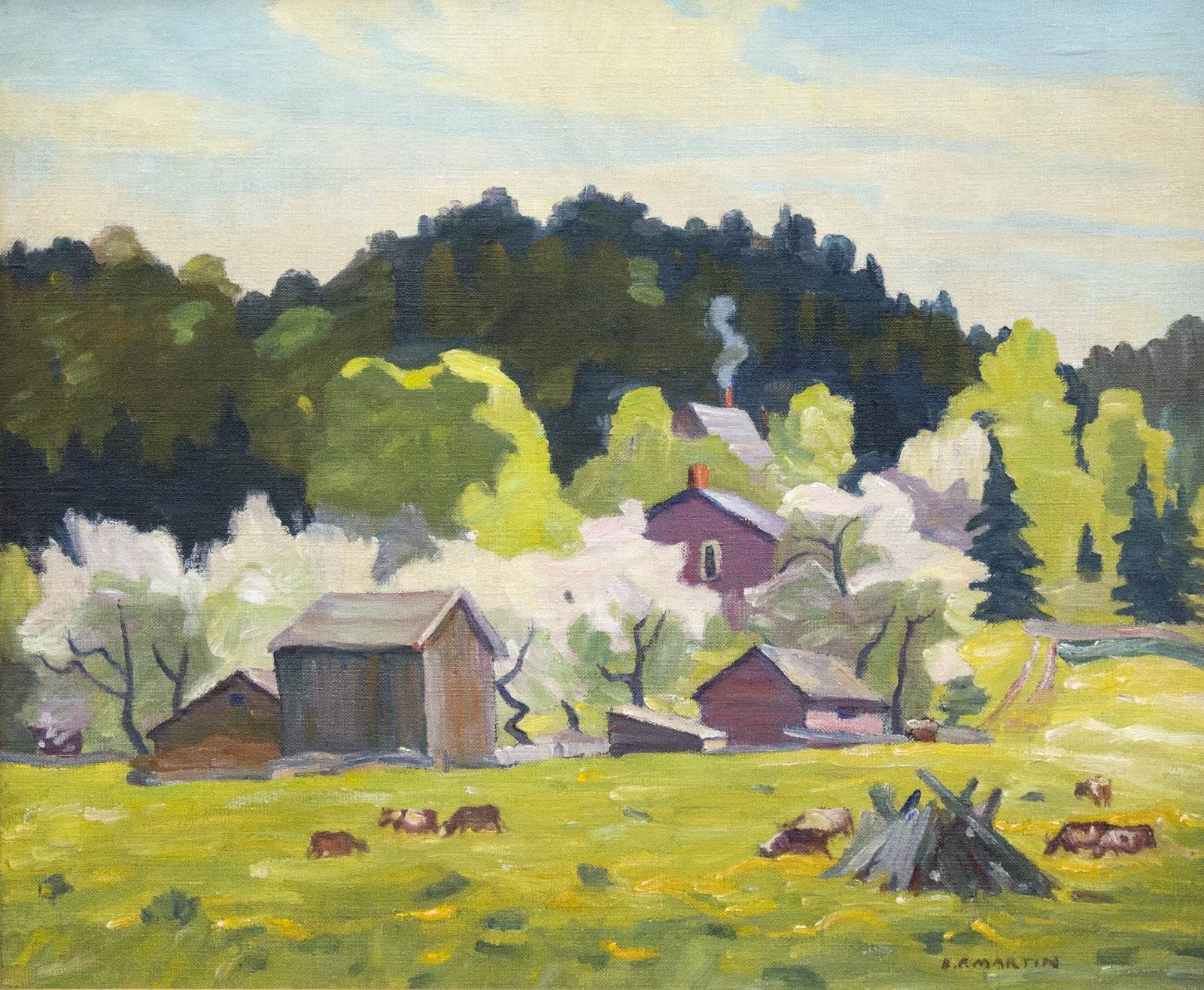 Country Scene Woodbridge By Bernice Martin Oeno Gallery