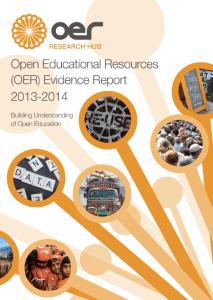 OER Evidence Report 2013-2014