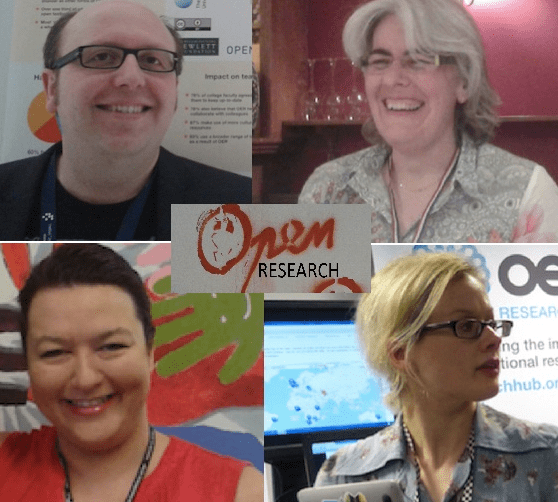 Your Open Research course facilitators! (Clockwise: Bea de los Arcos, Beck Pitt, Natalie Eggleston and Rob Farrow)