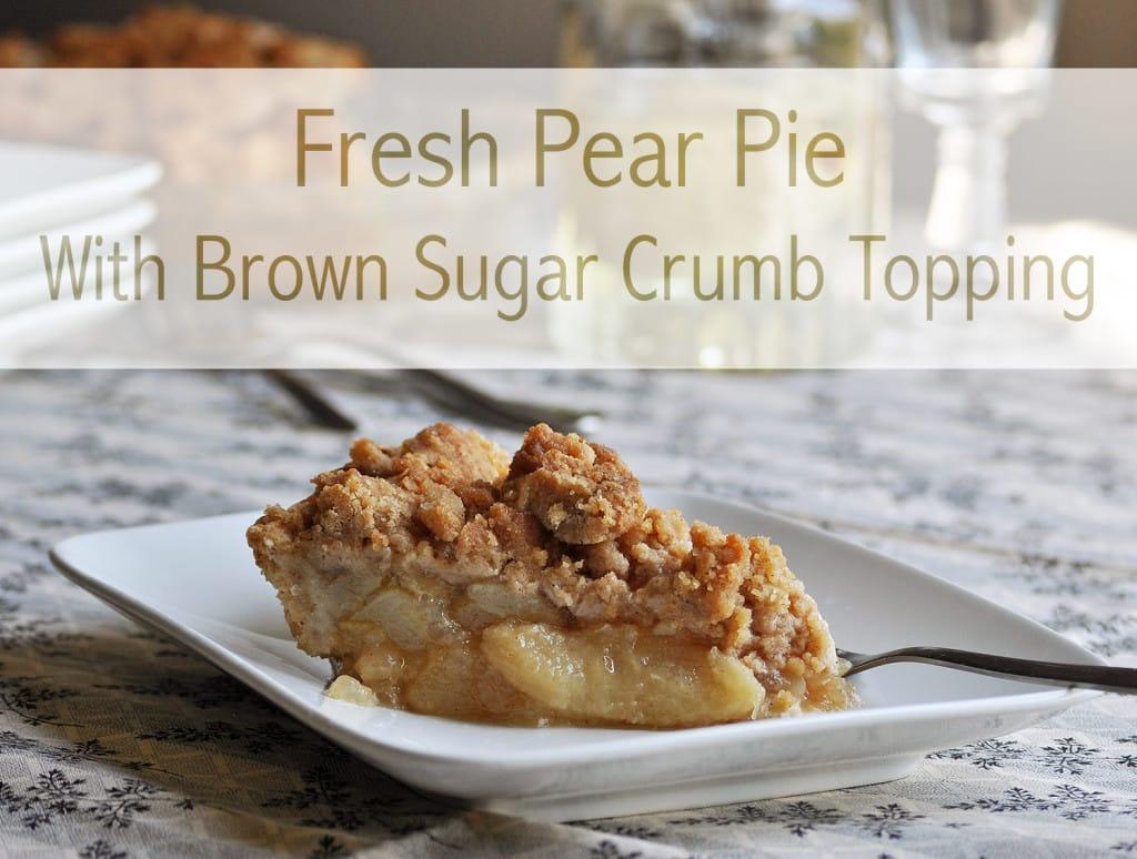 Pear Pie Recipe O Pie Ofbatterdough