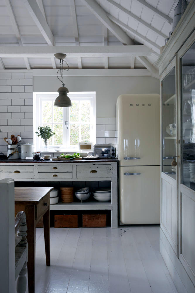 Smeg Retro Country Kitchen In The Half-timbered House | Interior