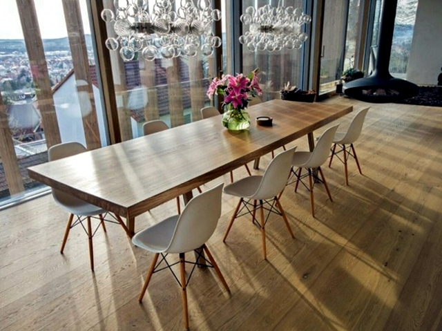Runde Oder Ovale Couchtische Dining Table Reclaimed Wood Has A Rustic Look | Interior