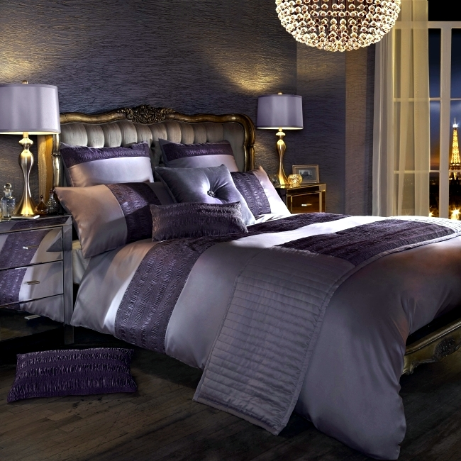 Baby Collection Silver Set Luxury Bedding Kylie Minogue – Satin Sequins And Elegant
